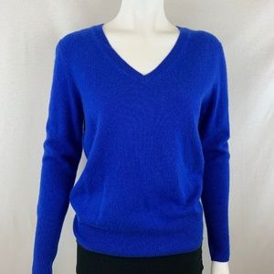 NWT! Halogen 100% CashmereBlue Sweater Size Medium
